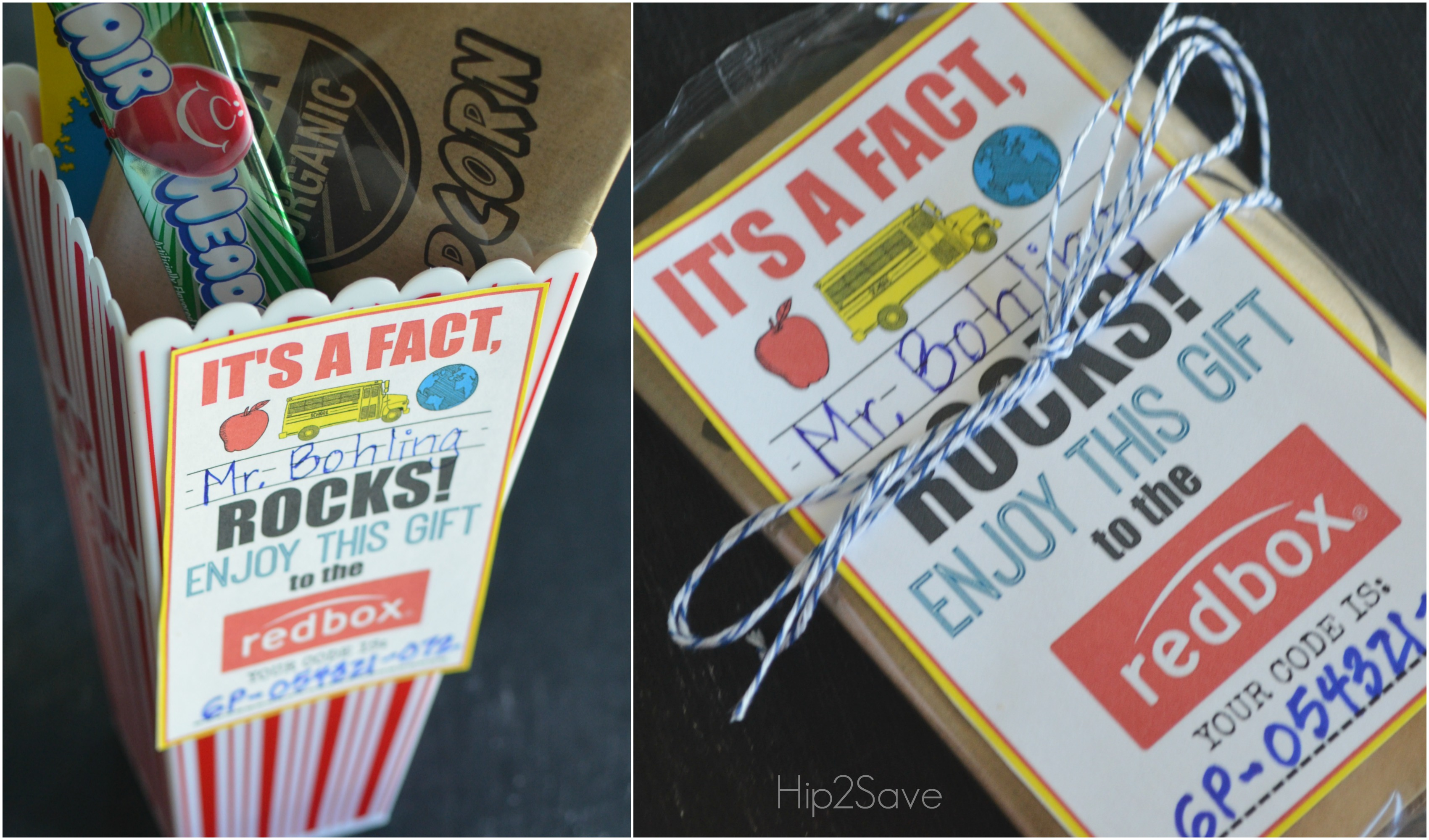 Teacher Appreciation Gift Idea Gift A Redbox Code Free Printable Card Hip2save