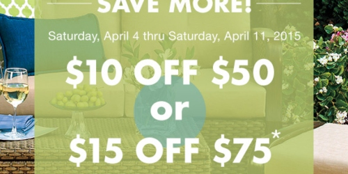 Big Lots: Save $10 Off $50 Purchase or $15 Off $75 Purchase Coupons (Valid 4/4-4/11 Only)
