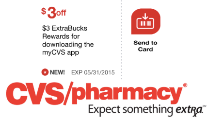 f1006446 CVS shoppers! If you have yet to download the myCVS app, now is the time to  do so as you'll automatically snag a FREE $3 ExtraBucks Reward (no  purchases ...
