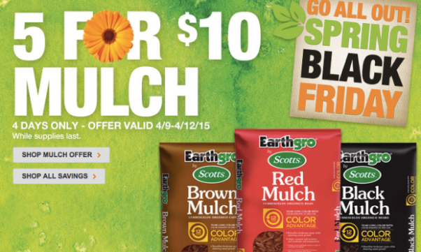 Home Depot Spring Black Friday Sale Hot Buys On Mulch