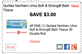 New 3 1 Quilted Northern 30 Double Rolls Coupon Only 37