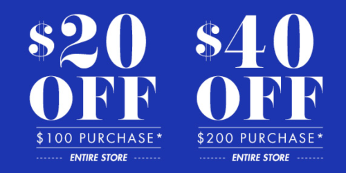Big Lots: Save $20 Off Entire $100 Purchase OR $40 Off $200 Purchase (Valid 4/18 & 4/19 Only)