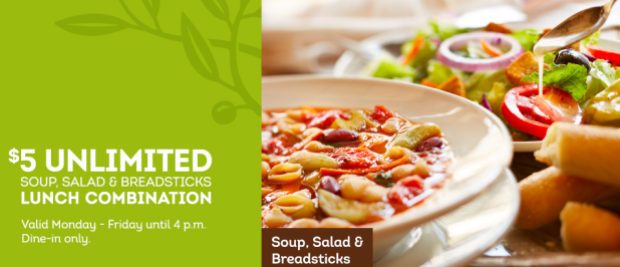 Olive garden unlimited soup salad and breadsticks only - Unlimited soup and salad olive garden ...