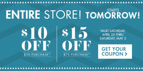Big Lots: Save $10 Off Entire $50 Purchase OR $15 Off $75 Purchase (Valid 4/25-5/2)