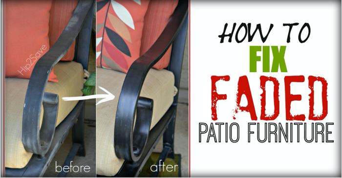 Fix Faded Aluminum Patio Furniture Hip2Save
