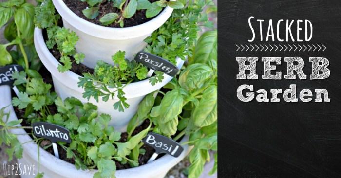 Stacked Herb Garden Hip2Save.com