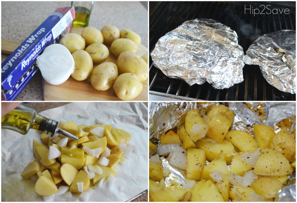 foil packet potatoes – steps for making