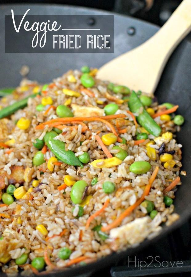 Homemade Veggie Fried Rice Hip2Save