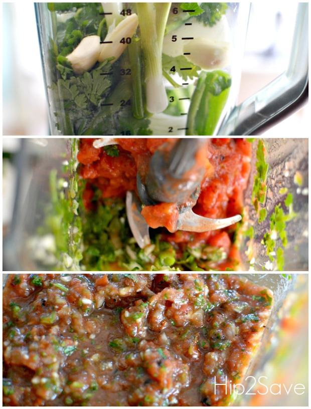 How to make salsa in the blender