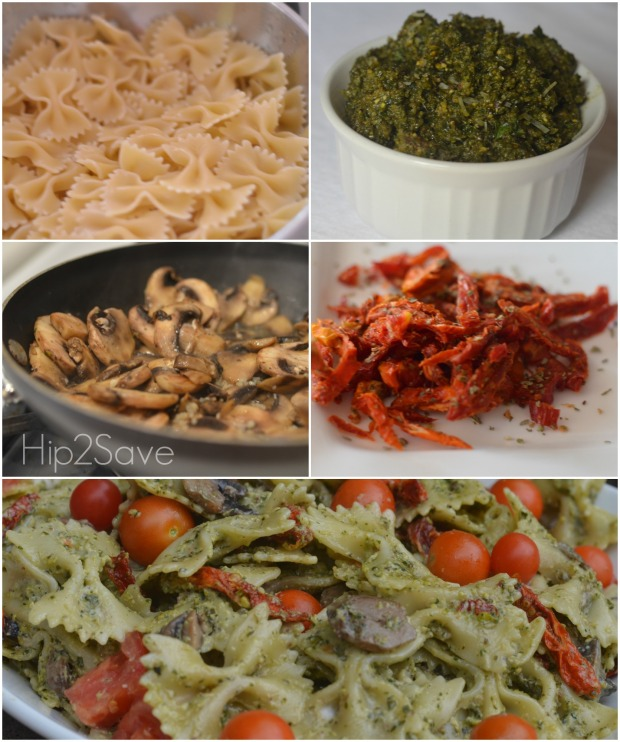 how to make the best pesto pasta salad Hip2Save