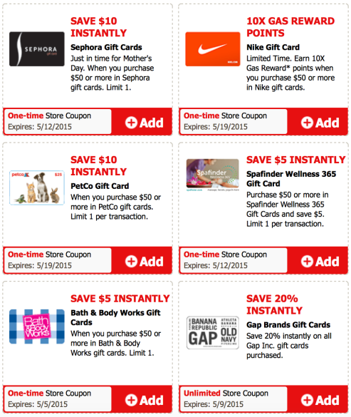 Safeway Affiliates Multiple Gift Card Discount Ecoupons Sephora Bath Body Works Petco More Hip2save