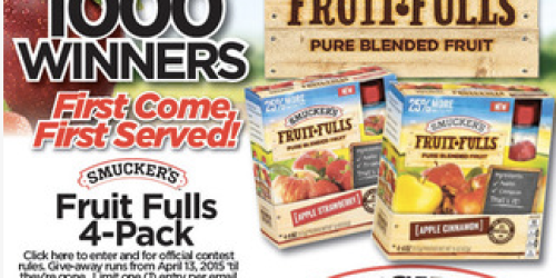 Military: 1,000 Win Smucker's Fruit-Fulls 4-Packs (+ May Commissary Deals & Coupons)