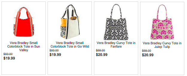 Vera Bradley Small Totes  19.99 (reg.  50) Only  14.99 after the code  CFASHION5 + Free Shipping! 876c4d0765974