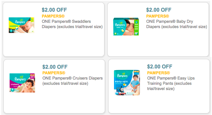 graphic regarding Printable Pampers Coupons identified as 6* $2/1 Pampers Printable Discount coupons - Hip2Preserve