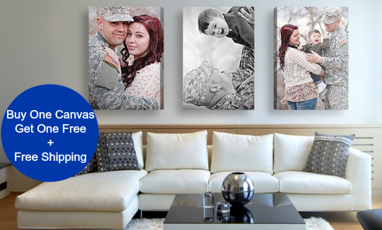 Easy Canvas Prints: Buy One Get One FREE on ALL Canvas Prints + FREE