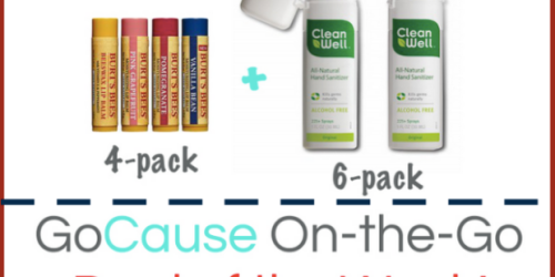 GoCause: $22.99 Gets YOU 10 Pack of Burt's Bees & CleanWell AND Helps Kids In Cambodia