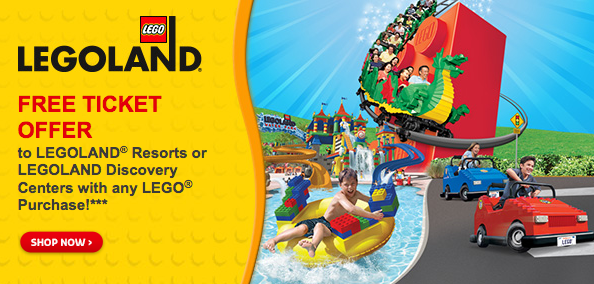 planning a trip to legoland while supplies last head over to the lego store where when you purchase any lego product you will receive a voucher