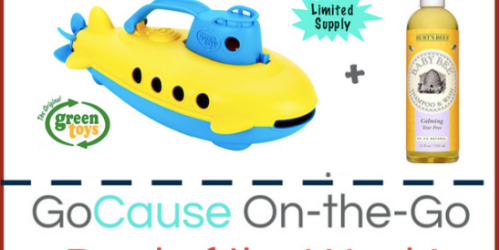 GoCause: $20.99 Gets YOU Green Toys Submarine AND Burt's Bees Baby Wash AND Helps Family in Somalia