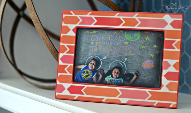 Frame a Chalk Art Photo for Dad by Hip2Save