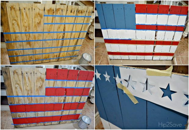 How To Paint A Pallet Flag Hip2save