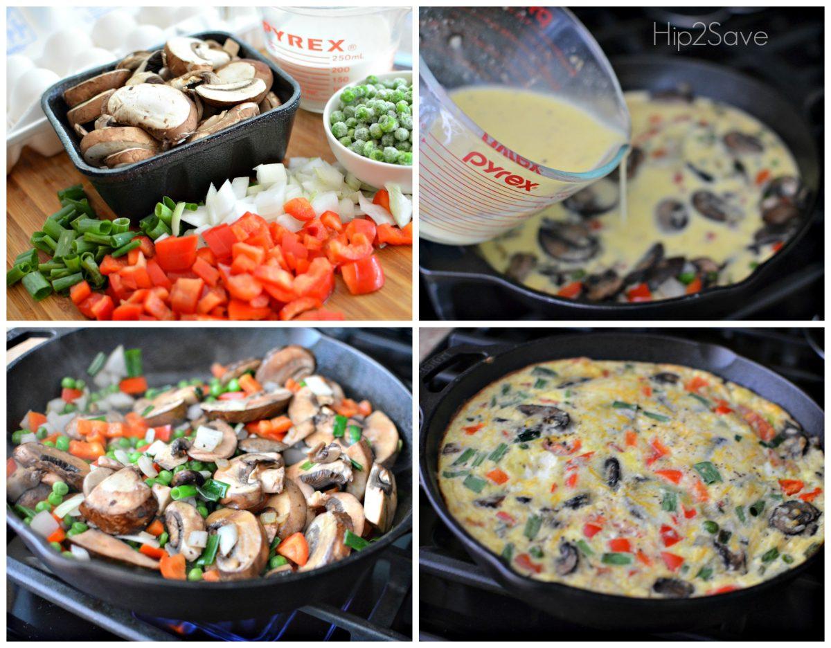 How to Make a Veggie Frittata Hip2Save