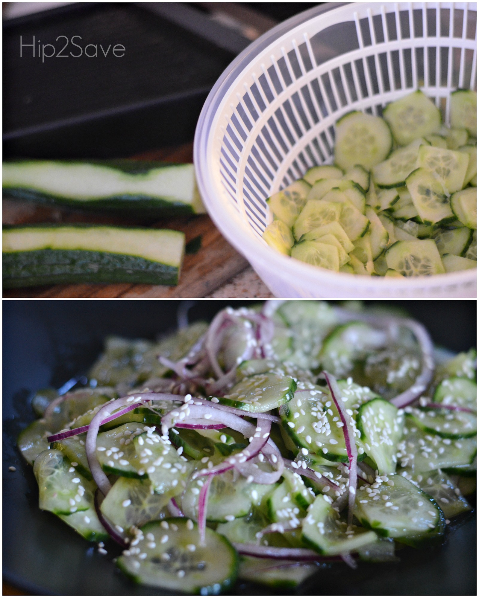 Perfect Summer Side Dish Japanese Cucumber Salad by Hip2Save.com
