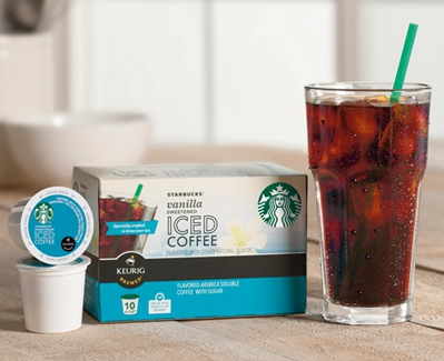 image about Starbucks K Cups Printable Coupons identified as $1/1 Starbucks Iced Espresso K-Cups Printable Discount codes (3