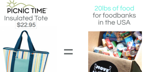 GoCause: $22.95 Gets YOU Picnic Time Insulated Tote AND Gives 20 lbs of Food to USA Food Banks