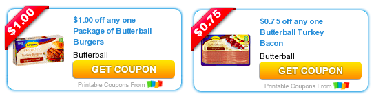 picture about Butterball Coupons Turkey Printable identify Fresh Butterball Turkey Bacon Burgers Coupon codes \u003d Turkey Bacon