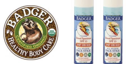 GoCause: $16.99 Gets YOU Two Badger Balm Sunscreen Face Sticks AND Treats Malaria in Liberia