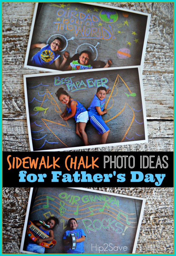 Sidewalk Chalk Photo Ideas for Father's Day