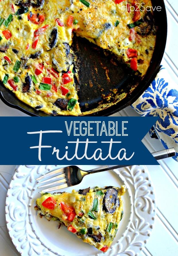 vegetable frittata Hip2Save