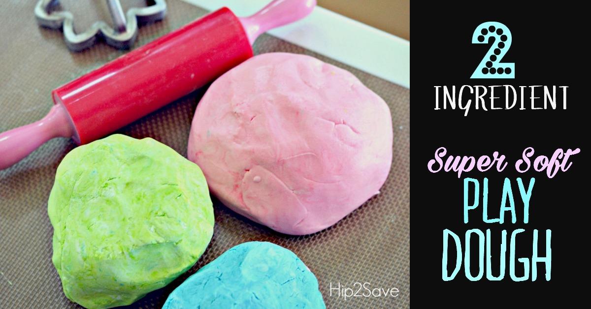 2 Ingredient Super Soft Play Dough Hip2Save