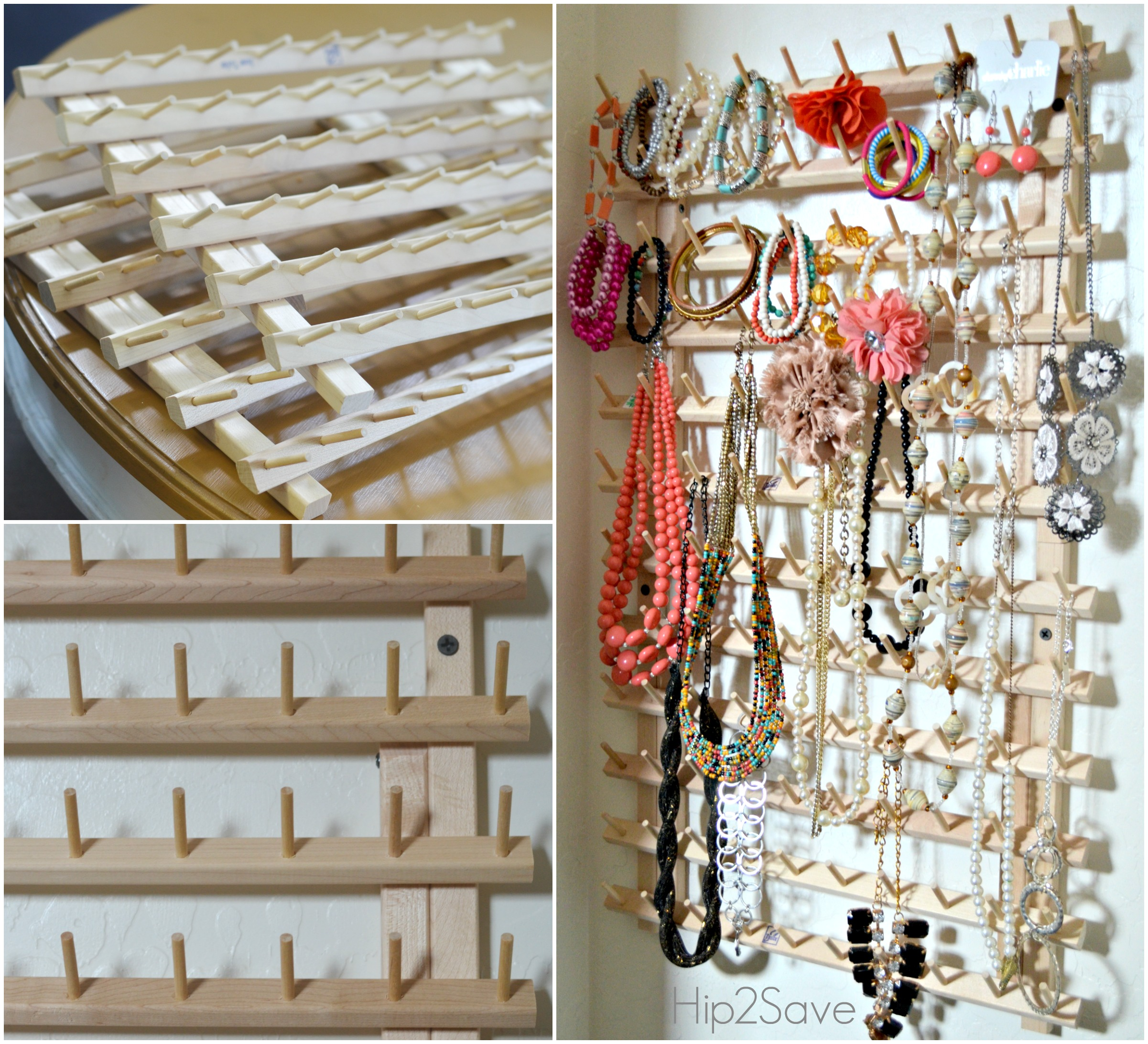 A Thread Rack Makes a Great Jewelry Organizer Hip2Save.com