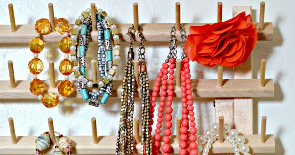 jewelry organizer thread rack