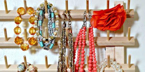 Organize Jewelry Using a Thread Rack