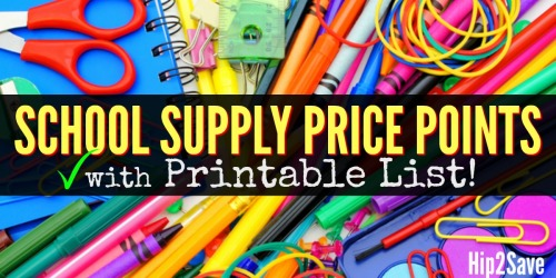 Hip2Save's School Supply Price Points (+ Free Printable Spreadsheet)