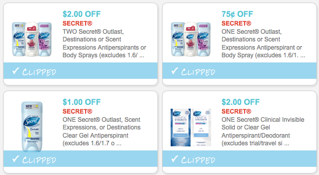 image relating to Secret Deodorant Printable Coupons named $5.75 within *Clean* Top secret Deodorant Discount codes - Hip2Help save