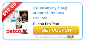 photograph about Purina Pro Plan Coupons Printable named Fresh* $10/1 Purina Skilled Program Canine Food items or Cat Muddle Coupon