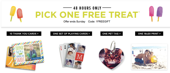 Shutterfly Free Thank You Cards Playing Cards Pet Tag Or A 16x20