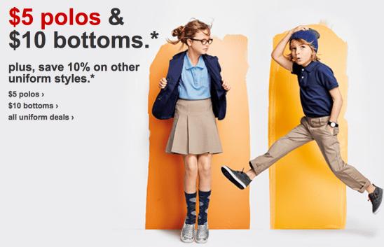 Targetcom Big Savings On School Uniform Clothing 5 Polos 10