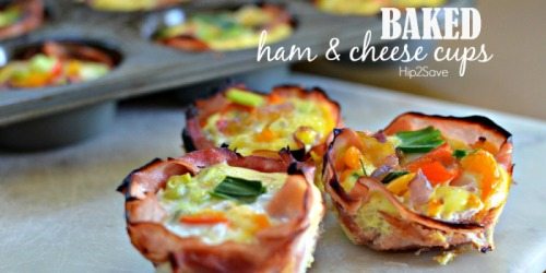 Baked Ham & Egg Cups (Low Carb Breakfast On The Go Meal)