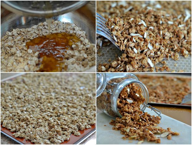 Amazing Vanilla Almond Granola Made with Coconut Oil Hip2Save.com