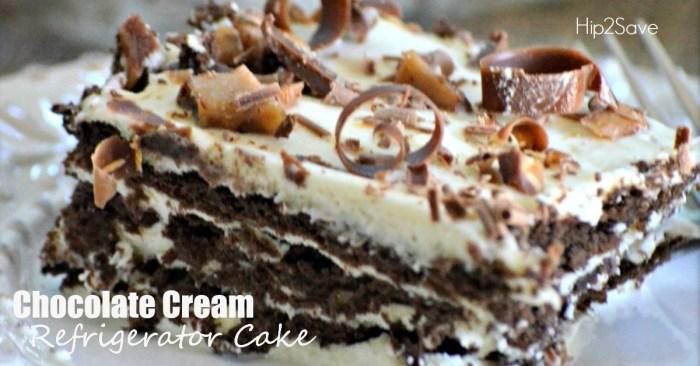 Chocolate Cream Refrigerator Cake