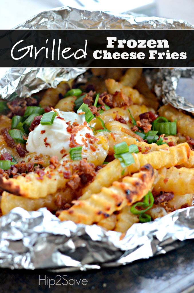 Easy Grilled Frozen Cheese Fries Hip2Save.com