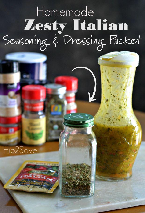 Homemade Zesty Italian Seasoning & Dressing Packet