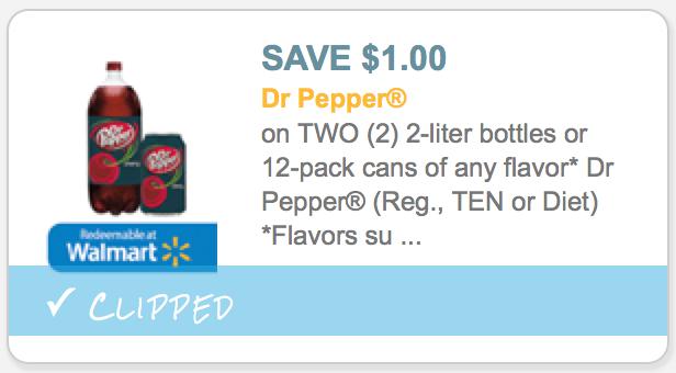 Walmart: Dr  Pepper 2 Liter Bottles ONLY 19¢ Each - Hip2Save