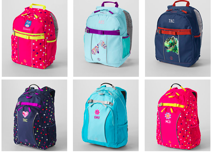 Lands' End: *HOT* Kids' Backpacks Starting