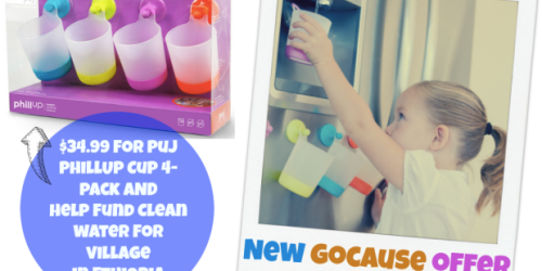 GoCause: $34.99 Gets You 4-Pack of Hanging Kid's Cups AND Helps Fund Drinking Water in Ethiopia