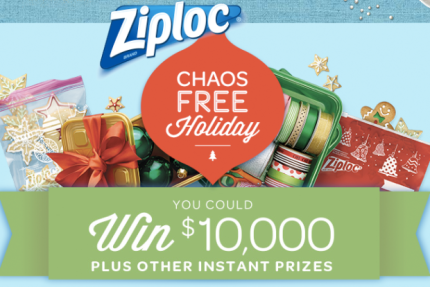 Ziploc Chaos-Free Holiday Sweepstakes